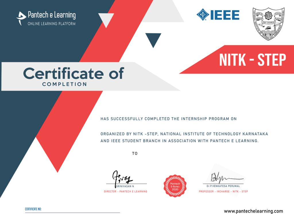 pantech e certificate
