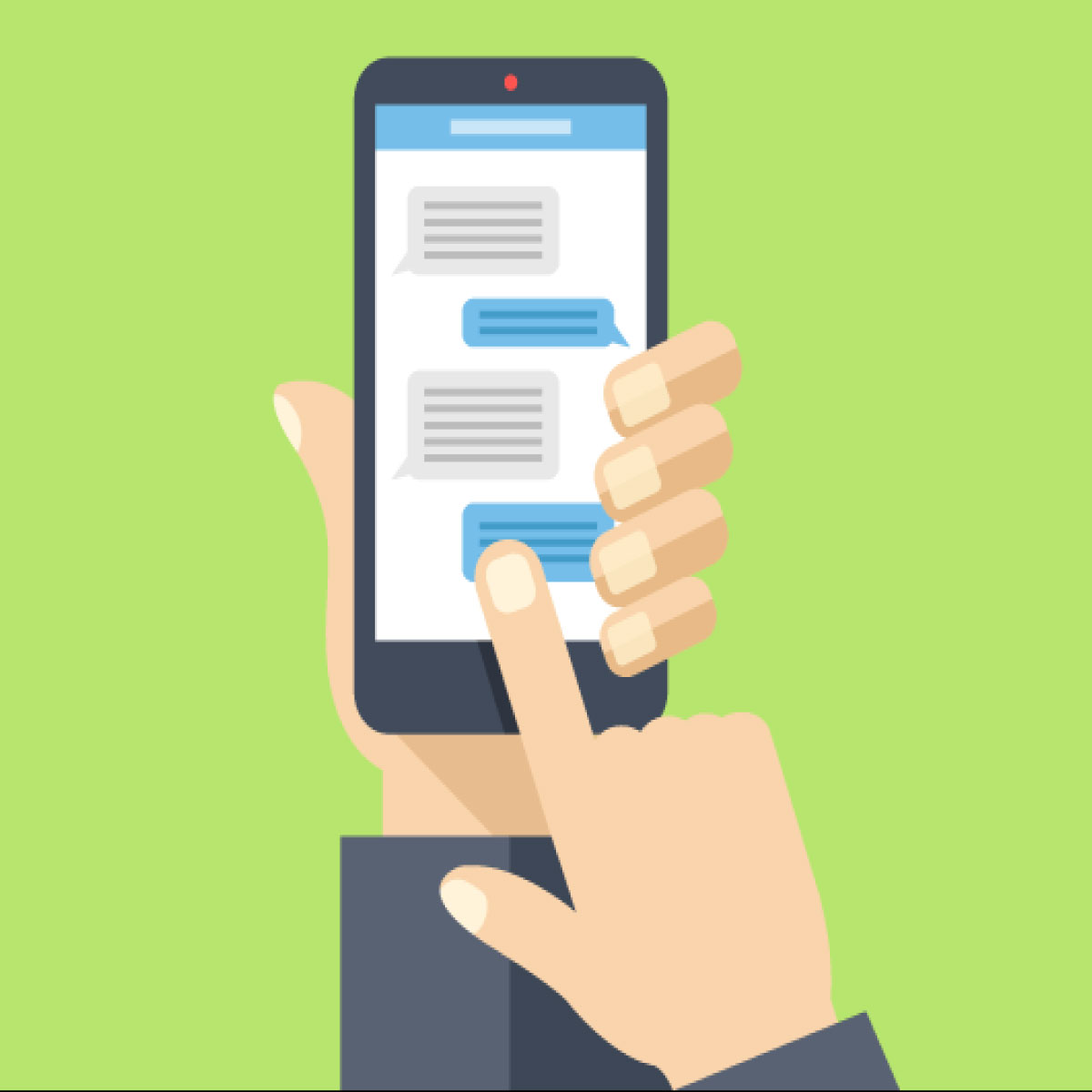 SMS Application using AES Algorithum