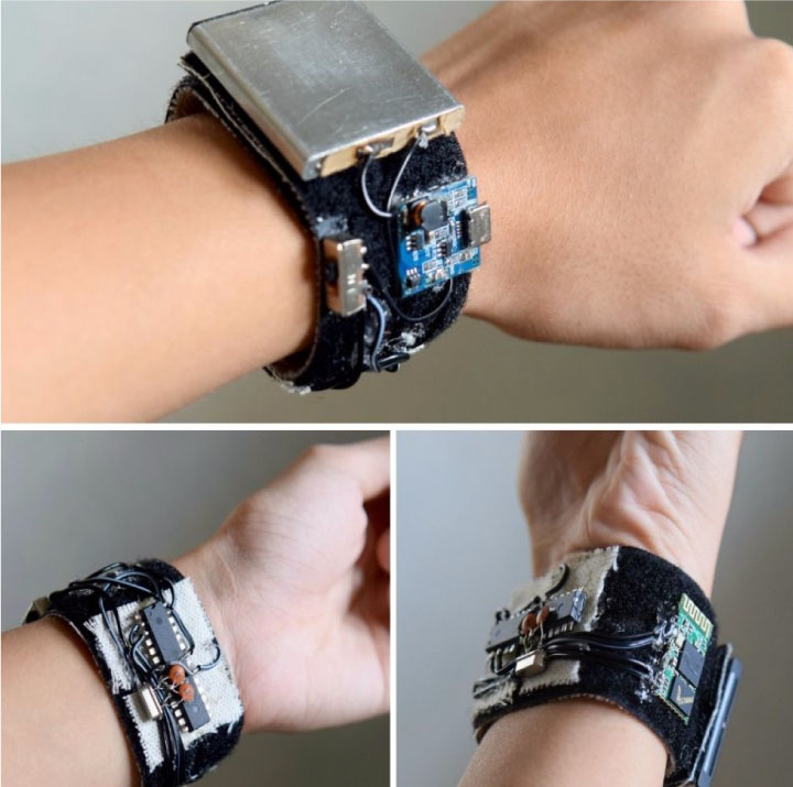 Smart band for Monitoring Health Service Node MCU1