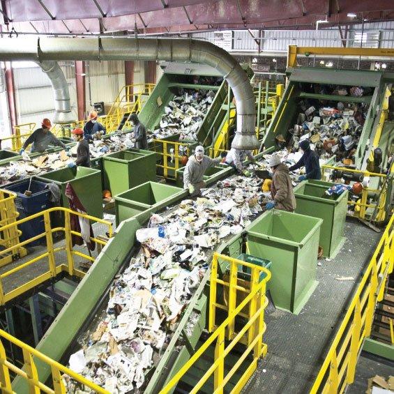 waste segregation using conveyor audrino