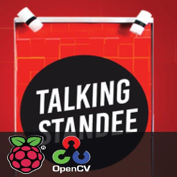 Talking standee using Raspberry Pi
