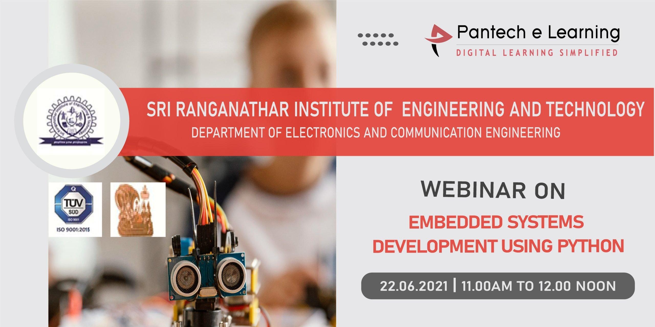 Embedded system developement using Python SRIET Pantech eLearning