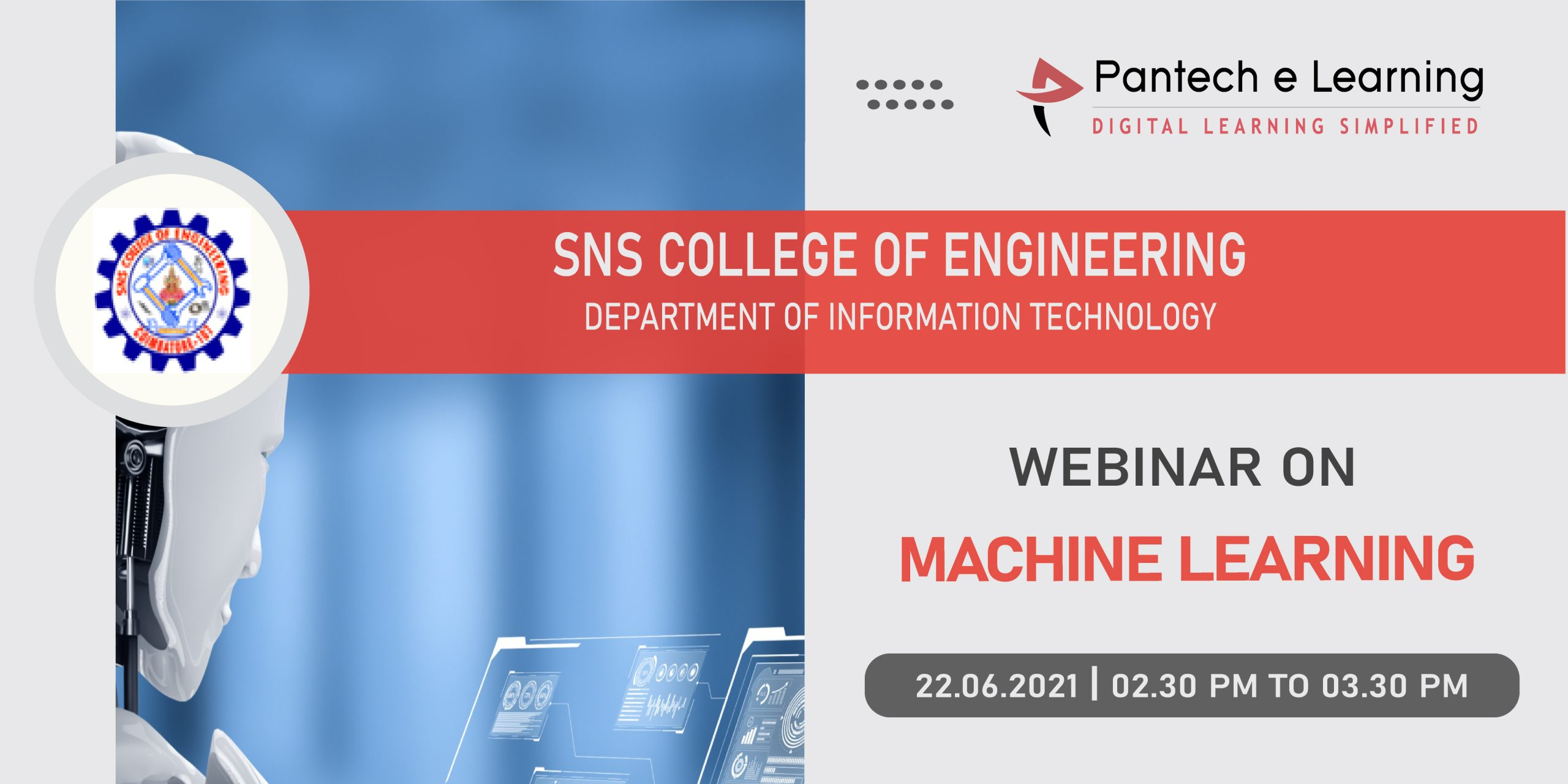 Machine Learning SNS college Pantech eLearning