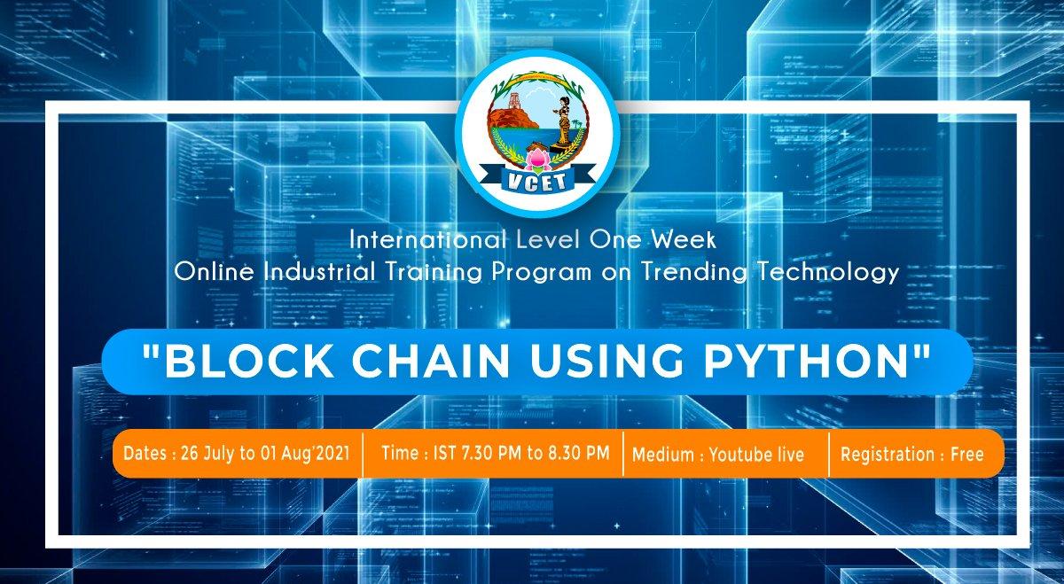 VCET Industrial Training Program on Block Chain using Python
