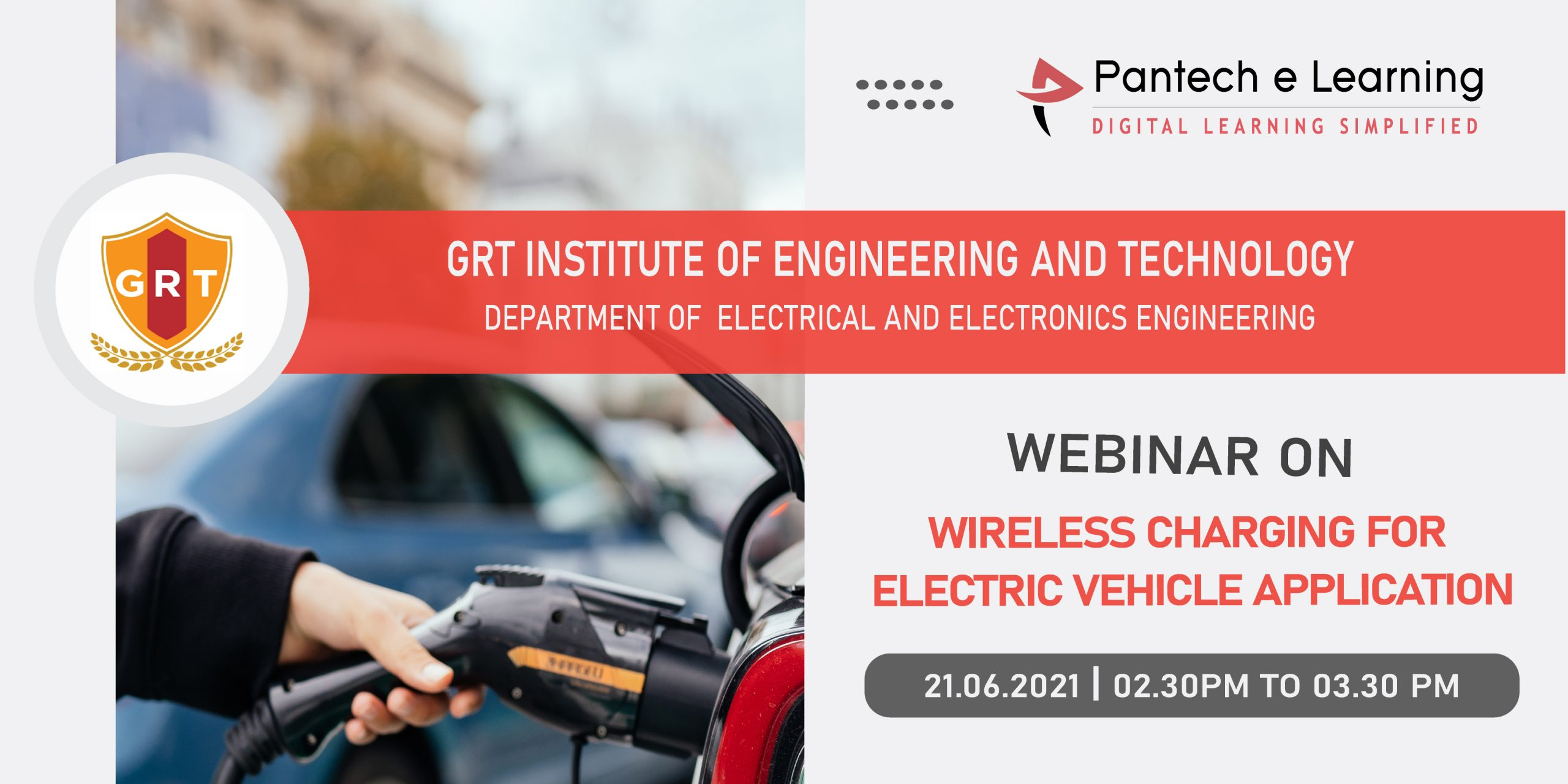Wireless charging for EV GRT institute Pantech e Learning