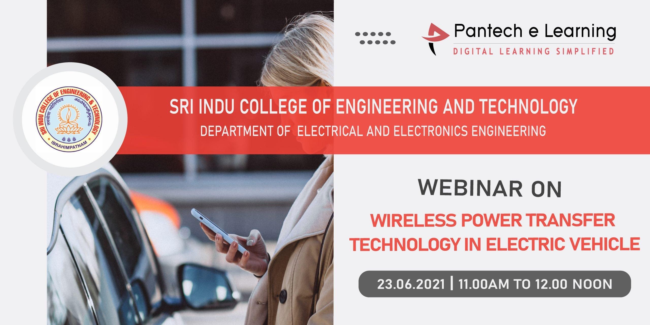 wireless power transfer in EV Sri Indu Pantech eLearning